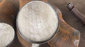 刚玉陶瓷耐磨弯头规格尺寸图